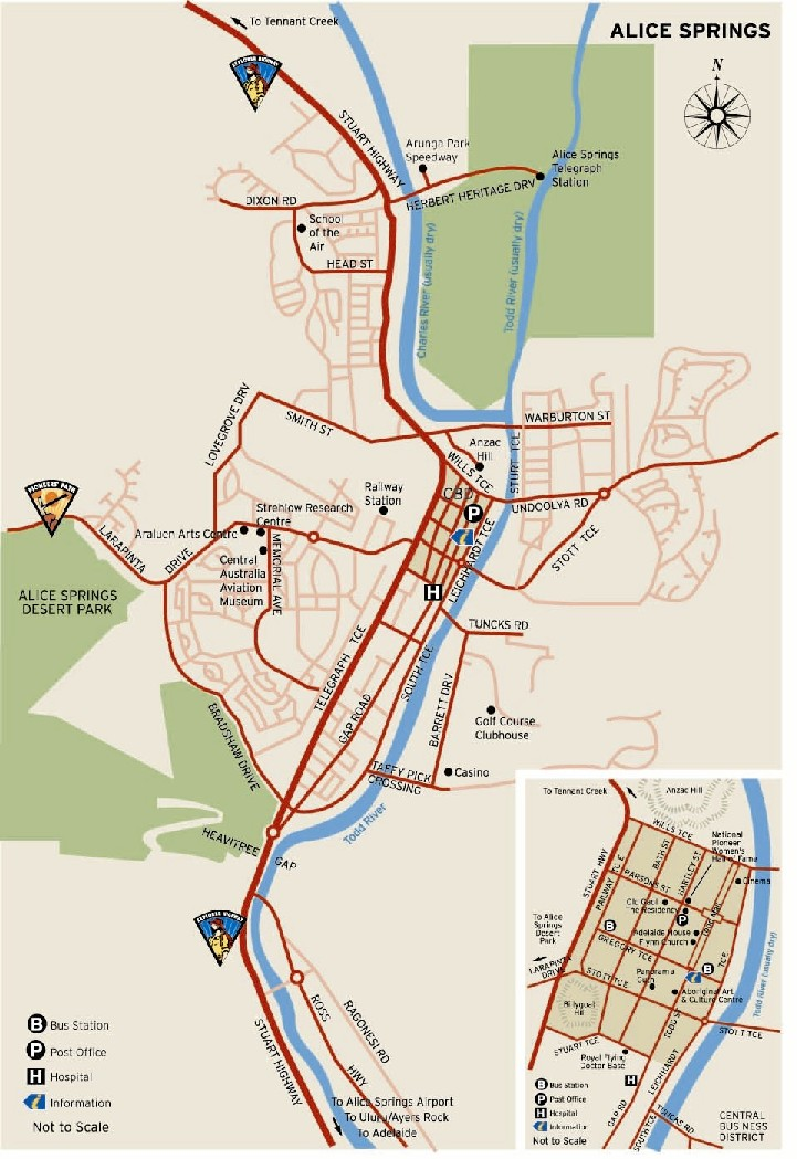 A free map of alice springs tourist guide - Alice springs tourist office ...