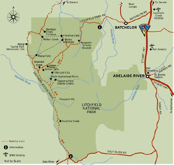 free map of Litchfield national park